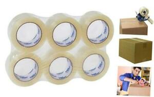 Heavy Duty Clear Packing Tape 2 Inch X 110 Yds Per Roll 6 Rolls Thick 2 6 Mi