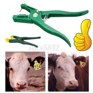 Livestock Cow Cattle Goat Sheep Ear Tag Plier Animal Tags Lables Applicator Mark