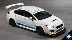 Apr Carbon Fiber Gtc 300 Wing 2015 Subaru Wrx With Trunk White