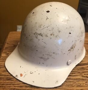 Vintage Nucor Steel Skullgard Hard Hat Helmet Msa Type 1 Liner Medium Usa