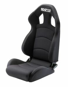 Sparco 00959crnr Chrono Road Racing Seat In Black Large Cloth