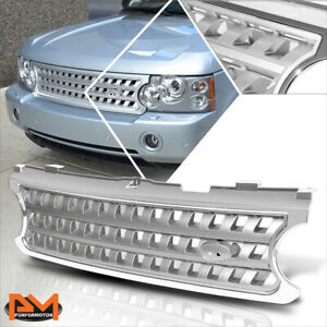 For 06 09 Range Rover Hse Square Mesh Abs Plastic Front Bumper Hood Grill Silver