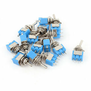 Ac 125v 6a Spdt On on 2 Positions 3 Pin Latching Micro Toggle Switch 15 Pcs