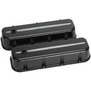 Billet Specialties Bbc Black Machined Accent Tall Valve Covers P n 96124