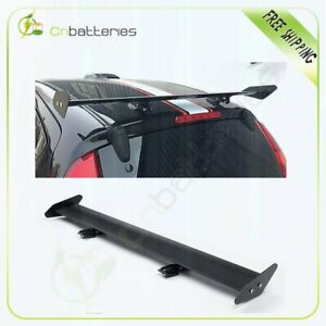 Black Color Adjustable Gt Double Deck F1 Style Trunk Spoiler Wing Reduce Weight