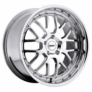 17 Inch 5x114 30 Wheel Rim Tsw Valencia 17x8 40mm Chrome