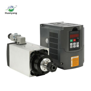 3kw Er20 Square Air Cooled Spindle Motor Huanyang Vfd Variable Frequency Drive