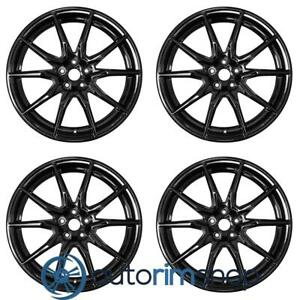 Ford Mustang Shelby 2019 19 Oem Staggered Wheels Rims Set Black