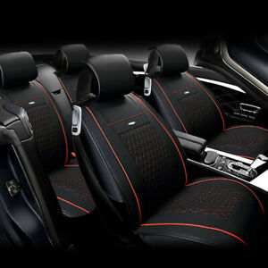 Us Car 5 Seat Leather Seat Covers For Nissan Altima Sentra Rogue Kicks Black Red