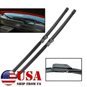 Pair Front Windshield Wiper Blades For Chevrolet Equinox Gmc Terrain Rubber