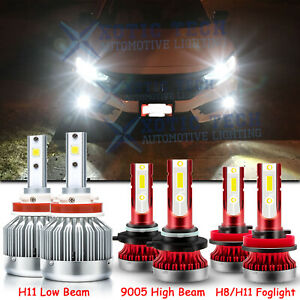 Led Headlight Kit High Low Beam Fog Light Bulbs For Honda Civic 2016 2020 Cr v