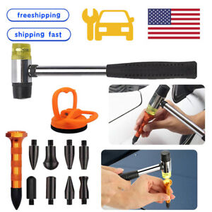 Car Paintless Dent Hail Damage Removal Repair Auto Kits Dint Hammer Puller Tools