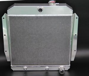 Fit 1955 1956 1957 1958 1959 Chevy Truck Pickups Aluminum Radiator 3 Cores 55 59