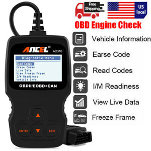 2020 Obdii Auto Scanner Tool Car Check Engine Light Code Reader Diagnostic Ad310
