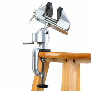 Vises Bench Swivel W Clamp 3 Inch Tabletop Vise Rotates 360 Work Bench Tool E