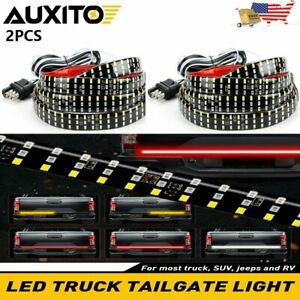 120 3 row 432 led Truck Tailgate Light Bar Strip Reverse Brake Signal Lamp Eaj
