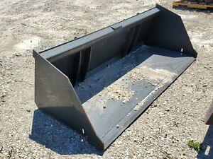 New 81 Heavy Duty Snow Litter Bucket No Teeth Skid Steer Attachment Usa Made