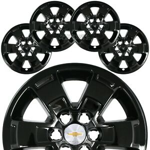 4 For Chevy Colorado Wt 2015 20 Black 16 Wheel Skins Hub Caps Alloy Rim Covers