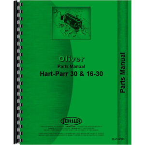 Parts Manual Fits Oliver (Hart Parr) 16-30 Models RAP80649 RAP80650