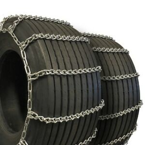 Titan Truck Tire Chains V bar Dual wide Base On Road Ice snow 8mm 36x13 50 15