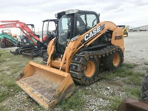 Used 2011 Case Sv250 Skid Steer Loader Enclosed A c Heat Over the tire Tracks