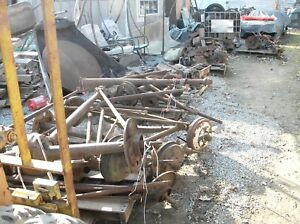 Large Lot 9 Pallets Of Vintage Used Ford Model A Parts Motor trans axles