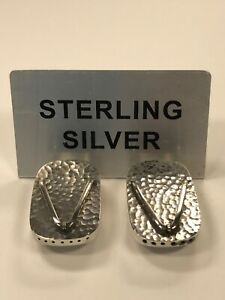 950 Japanese Sterling Silver Geta Salt And Pepper Shaker