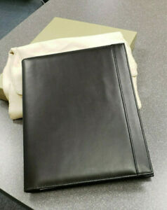 Brand New In Box Levenger Executive Pad Folio letter 10 X 12 Black Leather