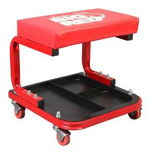 Torin Rolling Creeper Padded Mechanic Stool With Tool Tray Red 2 Pack