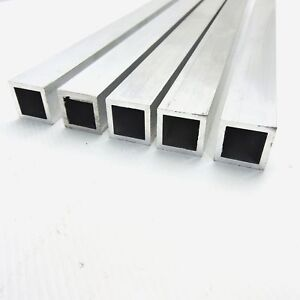 1 x1 Od Aluminum Square Tubing 0 125 Wall Thickness 67 Long Qty 5 Sku 105842