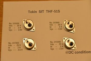 Two Pairs 4pcs Thf 51s 2sk77 2sk180 Tokin V fet Nos Original Japan Made