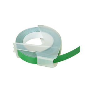 30pk White On Green 3d Embossing Tape Label For Dymo 520103 3 8 Fade Resistant