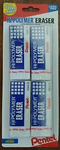 Pentel Hi polymer Eraser 4 pack New In Shrink Wrap