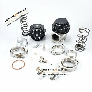 50mm Blow Off Valve V Band 44mm Water Wastegate V Band Black Universal Kits