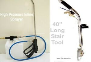 Carpet Cleaning Stair Wand Inline Sprayer Combo
