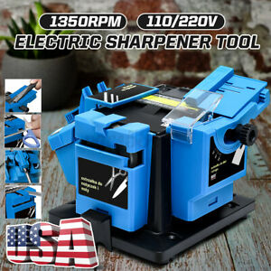 110v 96w Electric Grinder 1350 Rpm Multifunction Sharpener Grinding Drill Tool