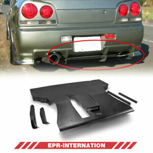 Fit For Nissan Skyline R34 Gtt Er36 Rear Under Diffuser Frp Unpainted Esb Style