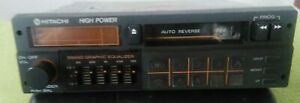 Vintage Car Stereo Cassette Player Hitachi Grunding Axxos Stereo Classic Old