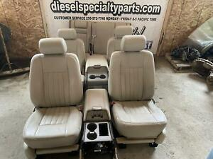 2003 2006 Lincoln Navigator Camel Beige Leather Seats Oem With Consoles