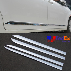 For 2011 20 Toyota Sienna Chrome Door Side Body Moulding Cover Trim 4pcs Set Usa