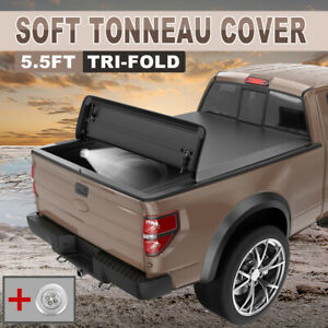 5 5ft Tri Fold Truck Bed Tonneau Cover For 15 20 F 150 Soft 5 5 Bed Models Only
