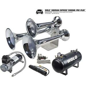 Wolo Model 852 860 Siberian Express Chrome Plated Train Horn And Air System
