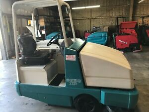 Used Tennant 6650 Lp Rider Sweeper Xp