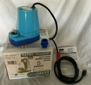 Utility Sump Pump Little Giant Water Wizard 5 Series Submersible 1 6 Hp 505933