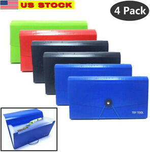 4 Pack Expandable File Folder 10 x5 5 Portable Accordion Document Pocket