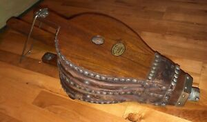 Antique Fireplace Bellows Very Large 28 In X 10 In X 7 1 2 In