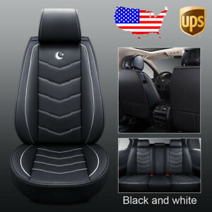 Durable Moon Car 5 seat Pu Leather Seat Covers Front rear For Honda Accord Civic