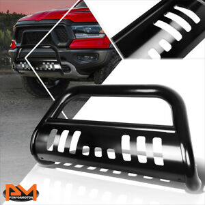 For 19 Ram Truck Pickup 3 Tubing Bull Bar Front Push Bumper Grille Guard Black