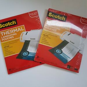 3m Scotch 8 5 X 11 Letter Size Thermal Laminating Pouches 2 Packs