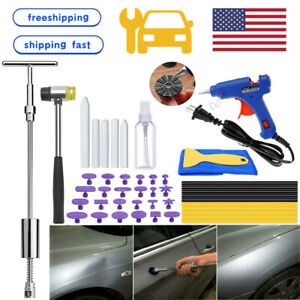 Us Car Body Paintless Hail Damage Remover Repair Kit Dent Puller Hammer Tool